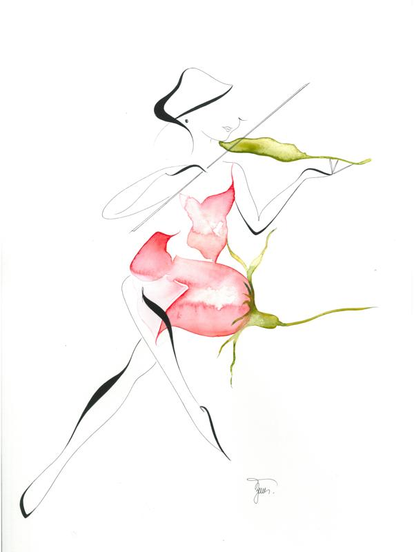 Perokresby a akvarely Michaely Žemličkové